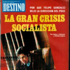 Coleccionismo de Revista Destino: L32 REVISTA DESTINO EKL MAYO 1979 ~ LA GRAN CRISIS SOCIALISTA { VER SUMARIO } Nº 2172. Lote 95331395