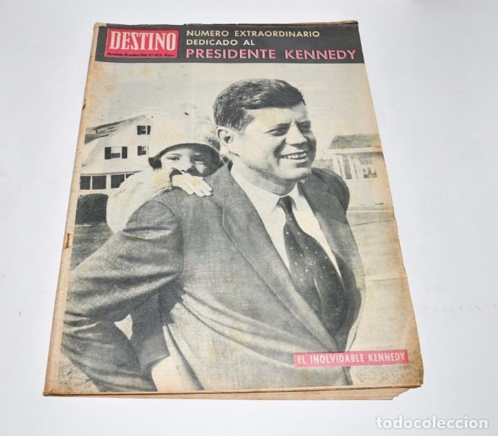 REVISTA DESTINO Nº1373 - 30 NOVIEMBRE 1963 - NUMERO EXTRAORDINARIO, PRESIDENTE KENNEDY (Coleccionismo - Revistas y Periódicos Modernos (a partir de 1.940) - Revista Destino)