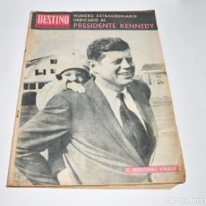 Coleccionismo de Revista Destino: REVISTA DESTINO Nº1373 - 30 NOVIEMBRE 1963 - NUMERO EXTRAORDINARIO, PRESIDENTE KENNEDY. Lote 96347015
