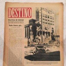 Coleccionismo de Revista Destino: DESTINO N° 277 . NOVIEMBRE 1942 . EN PORTADA STALINGRADO EN RUINAS POR PROYECTILES ALEMANES. Lote 97653559