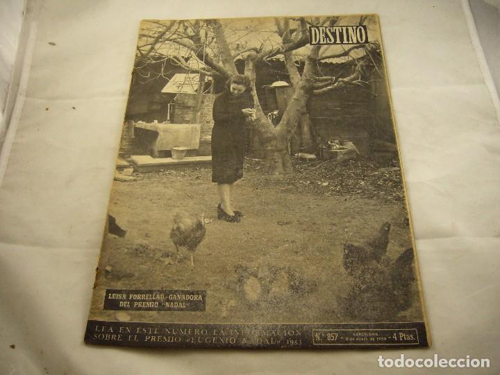REVISTA DESTINO NUMERO 857 (Coleccionismo - Revistas y Periódicos Modernos (a partir de 1.940) - Revista Destino)