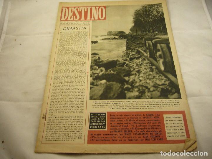 REVISTA DESTINO NUMERO 498 (Coleccionismo - Revistas y Periódicos Modernos (a partir de 1.940) - Revista Destino)