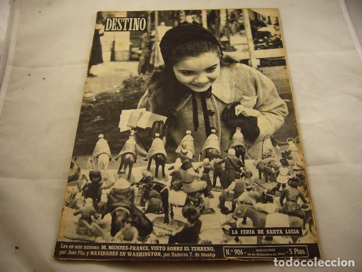 REVISTA DESTINO NUMERO 906 (Coleccionismo - Revistas y Periódicos Modernos (a partir de 1.940) - Revista Destino)