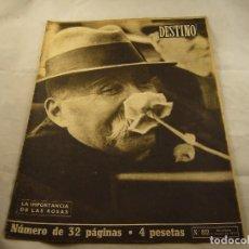 Coleccionismo de Revista Destino: REVISTA DESTINO Nº 822-9 DE MAYO DE 1953-LA IMPORTANCIA DE LAS ROSAS-CARTAS DE RUDOLF HESS. Lote 102862703
