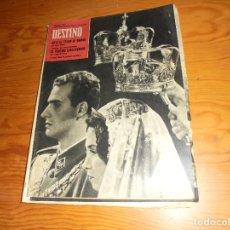 Coleccionismo de Revista Destino: REVISTA DESTINO Nº 1293, 19 MAYO 1962. BODA DE LOS PRINCIPES DE ESPAÑA EN ATENAS. Lote 105245211