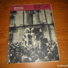 Coleccionismo de Revista Destino: REVISTA DESTINO Nº 1193. 18 DE JUNIO 1960. NOCHE Y NIEBLA EN EL TERCER REICH. Lote 105885267