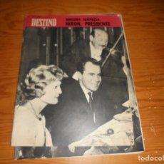 Coleccionismo de Revista Destino: REVISTA DESTINO Nº 1623. 9 DE NOVIEMBRE 1968. NIXON PRESIDENTE. Lote 105885407