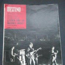 Coleccionismo de Revista Destino: DESTINO AÑO 1965 N 1457 PORTADA DE LOS BEATLES EN LA MONUMENTAL DE BARCELONA REVISTA ORIGINAL!. Lote 107054094