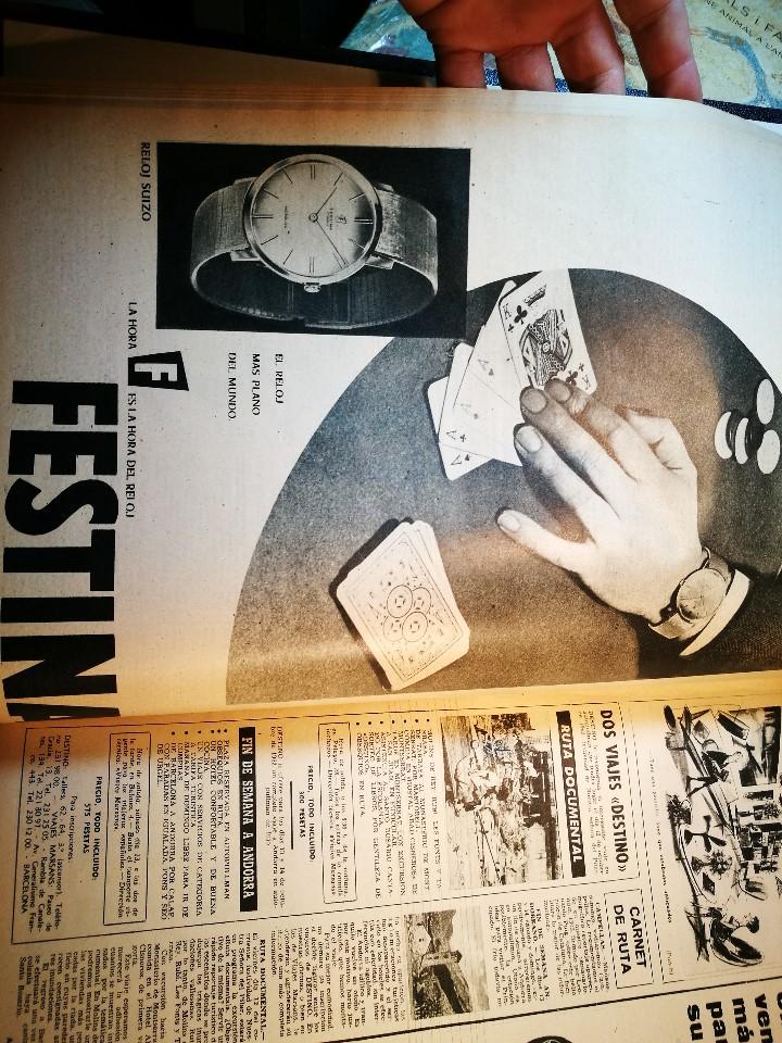 Coleccionismo de Revista Destino: REVISTA SEMANAL DESTINO - AÑO 1962 - COMPLETO - 52 REVISTAS DEL Nº 1274 AL 1325.bien encuadernado - Foto 4 - 108702911