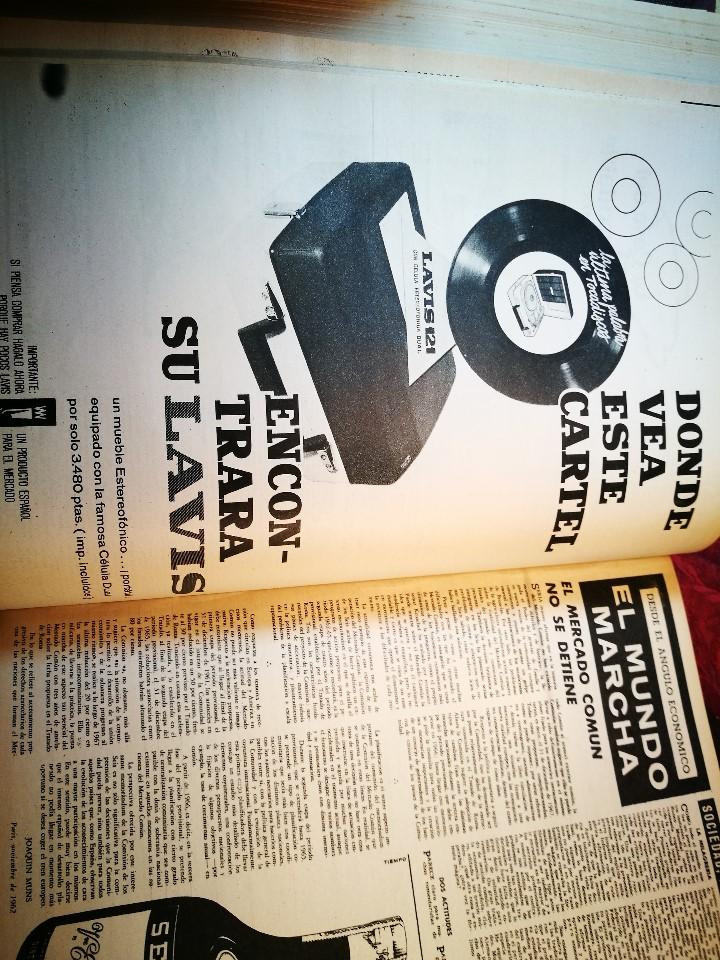 Coleccionismo de Revista Destino: REVISTA SEMANAL DESTINO - AÑO 1962 - COMPLETO - 52 REVISTAS DEL Nº 1274 AL 1325.bien encuadernado - Foto 5 - 108702911