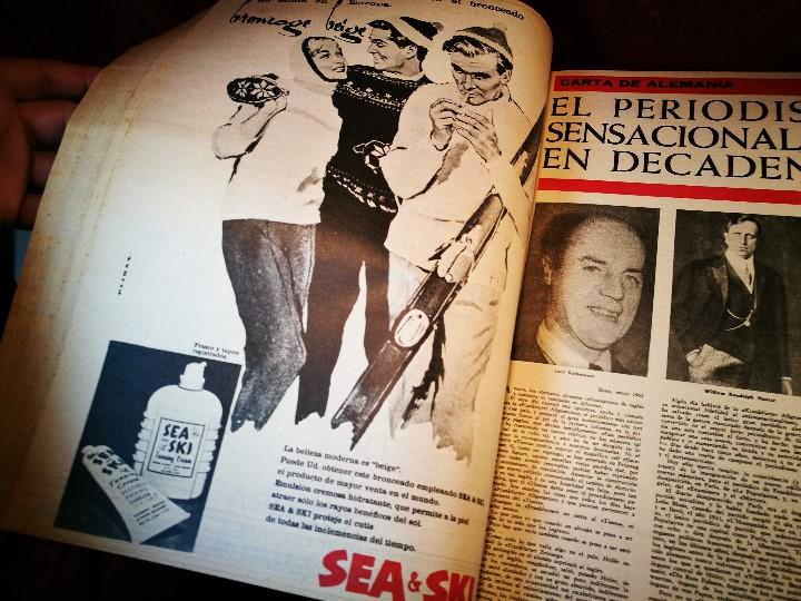 Coleccionismo de Revista Destino: REVISTA SEMANAL DESTINO - AÑO 1962 - COMPLETO - 52 REVISTAS DEL Nº 1274 AL 1325.bien encuadernado - Foto 28 - 108702911