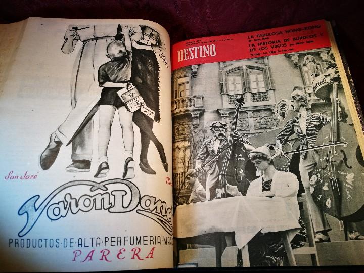 Coleccionismo de Revista Destino: REVISTA SEMANAL DESTINO - AÑO 1962 - COMPLETO - 52 REVISTAS DEL Nº 1274 AL 1325.bien encuadernado - Foto 32 - 108702911