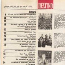 Coleccionismo de Revista Destino: LLUIS COMPANYS. LAS ELECCIONES MUNICIPALES DE 12 DE ABRIL DE 1931. 1976. VER SUMARIO.. Lote 108756191