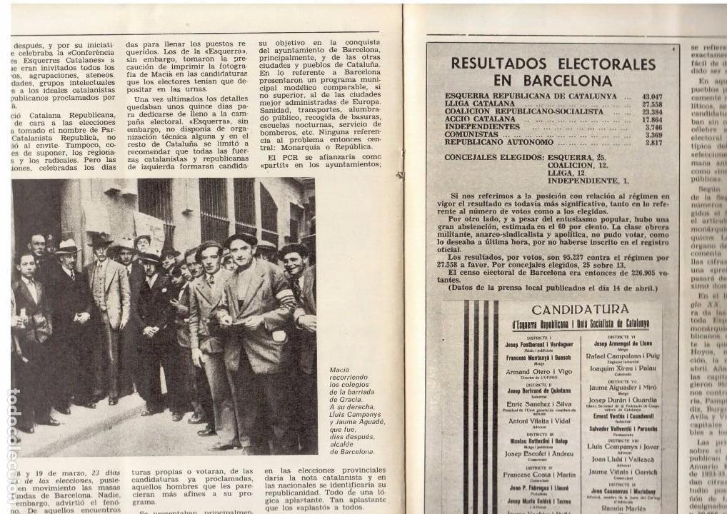 Coleccionismo de Revista Destino: LLUIS COMPANYS. LAS ELECCIONES MUNICIPALES DE 12 DE ABRIL DE 1931. 1976. Ver sumario. - Foto 3 - 108756191