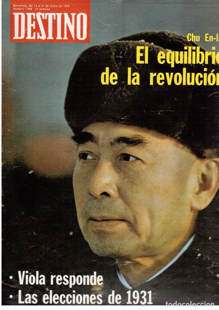 Coleccionismo de Revista Destino: LLUIS COMPANYS. LAS ELECCIONES MUNICIPALES DE 12 DE ABRIL DE 1931. 1976. Ver sumario. - Foto 5 - 108756191