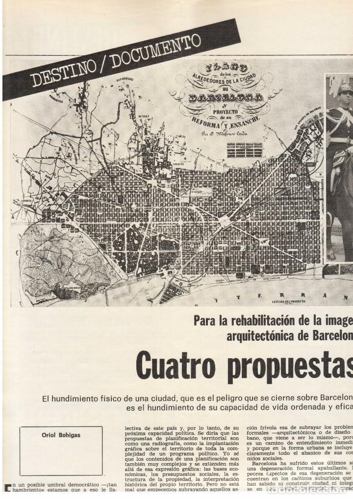 Coleccionismo de Revista Destino: SERRAT EN PARÍS. REHABILITACIÓN DE BARCELONA. SANT LLORENÇ SAVALL. 1976. Ver sumario. - Foto 3 - 108792783