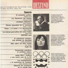 Coleccionismo de Revista Destino: NURIA ESPERT. REPÚBLICA CATALANA. EL POLISARIO. JOSEP MIRÓ I ARDÈVOL. 1976. VER SUMARIO.. Lote 108982791