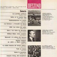 Coleccionismo de Revista Destino: CRUYFF SI, CRUYFF NO. MARAVALL. EL PARALELO. JOAQUIM ARANA. STANLEY KUBRICK. 1976. VER SUMARIO.. Lote 108988359