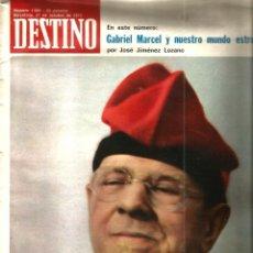 Coleccionismo de Revista Destino: DESTINO 1882, AÑO 1973 : EN LA MUERTE DE PAU CASALS . Lote 109494915