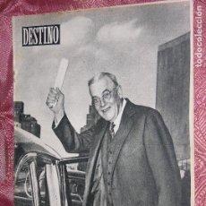 Coleccionismo de Revista Destino: DESTINO Nº 895 AÑO 1954. Lote 109838311