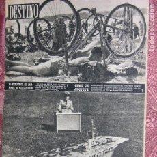 Coleccionismo de Revista Destino: DESTINO Nº 886 AÑO 1954. Lote 109848023