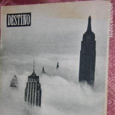 Coleccionismo de Revista Destino: DESTINO Nº 866 AÑO 1954. Lote 109849575