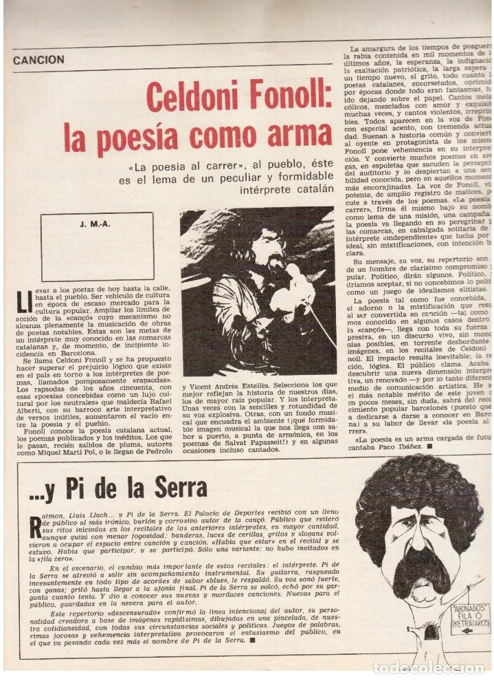Coleccionismo de Revista Destino: TARRADELLAS. LOS ONOFRI. JOAN BROSSA. PI DE LA SERRA. CELDONI FONOLL.SAMARANCH (VER SUMARIO) - Foto 6 - 113990883