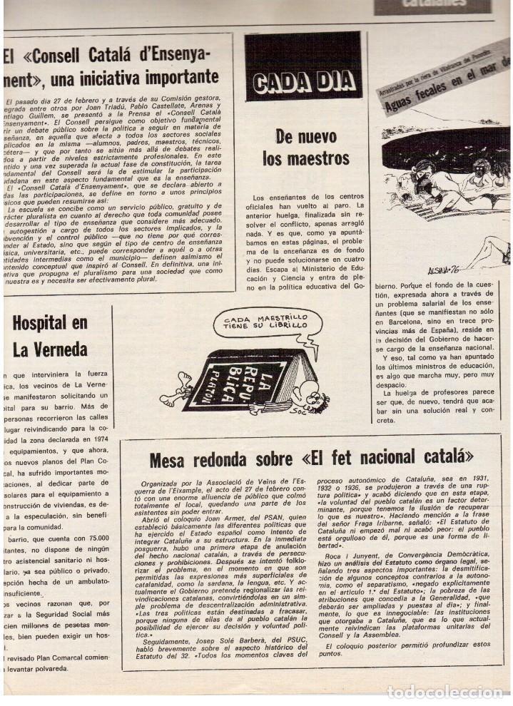 Coleccionismo de Revista Destino: TARRADELLAS. LOS ONOFRI. JOAN BROSSA. PI DE LA SERRA. CELDONI FONOLL.SAMARANCH (VER SUMARIO) - Foto 9 - 113990883