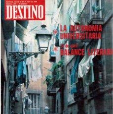 Coleccionismo de Revista Destino: BARCELONA ES BONA?, LUIS RACIONERO.SALVADOR MILLET I BEL, LA NUEVA LIGA.JOAN MIRÓ.DALÍ.(VER SUMARIO). Lote 114016995