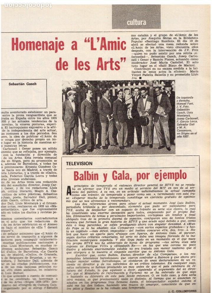 Coleccionismo de Revista Destino: barcelona es bona?, Luis Racionero.Salvador Millet I Bel, La nueva Liga.Joan Miró.Dalí.(ver sumario) - Foto 5 - 114016995
