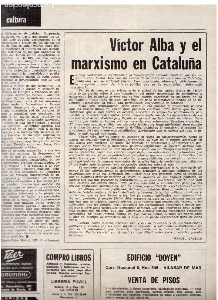 Coleccionismo de Revista Destino: movimientos obreros cataluña.victor alba.francesc layret.manolo mompó. JOAN CORNUDELLA.(ver sumario) - Foto 5 - 114020039
