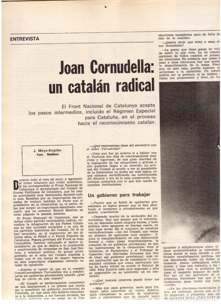 Coleccionismo de Revista Destino: movimientos obreros cataluña.victor alba.francesc layret.manolo mompó. JOAN CORNUDELLA.(ver sumario) - Foto 10 - 114020039
