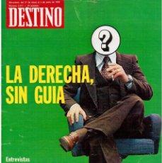 Coleccionismo de Revista Destino: 1976.UMBERTO ECO.RAÚL MORODO.ALVAR AALTO.MOSSÈN ARMENGOU.EL COMIC ERÓTICO.(VER SUMARIO). Lote 114065295