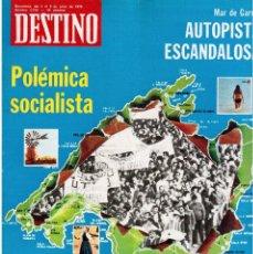 Coleccionismo de Revista Destino: 1976. ANTONI TAPIES.MALLORCA POLITICA.JOSEP MELIÁ.CANNES.JOSEP MIRÓ I ARDÈVOL.VIOLA. (VER SUMARIO). Lote 114618543