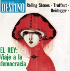 Coleccionismo de Revista Destino: 1976.FEMINISMO EN CATALUÑA.ROLLING STONES.TERENCE MOIX.JORDI PUJOL.TRUFFAUT.HEIDEGGER. (VER SUMARIO). Lote 114619663