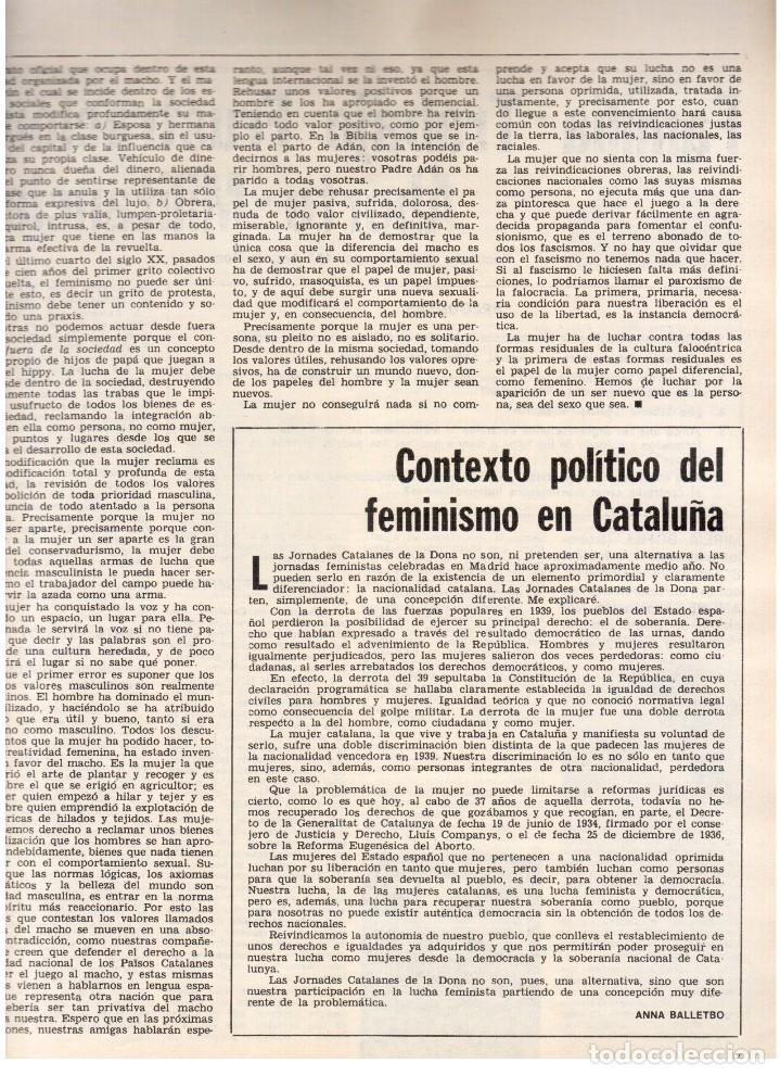 Coleccionismo de Revista Destino: 1976.FEMINISMO EN CATALUÑA.ROLLING STONES.TERENCE MOIX.JORDI PUJOL.TRUFFAUT.HEIDEGGER. (VER SUMARIO) - Foto 3 - 114619663