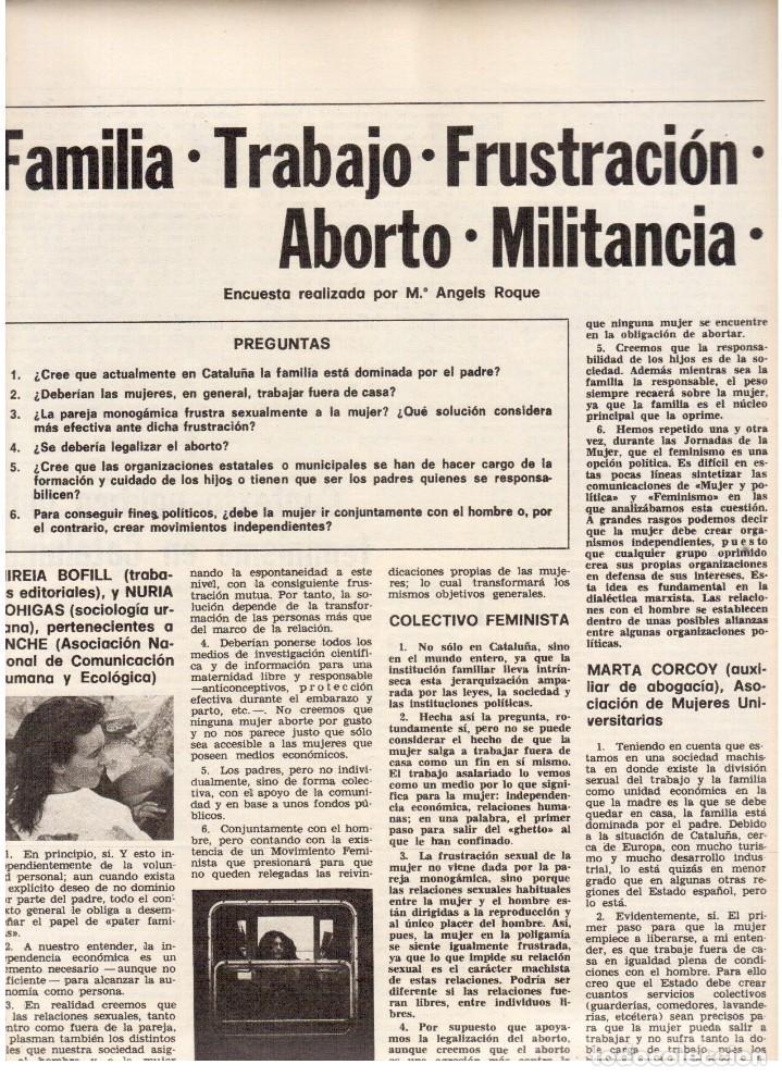 Coleccionismo de Revista Destino: 1976.FEMINISMO EN CATALUÑA.ROLLING STONES.TERENCE MOIX.JORDI PUJOL.TRUFFAUT.HEIDEGGER. (VER SUMARIO) - Foto 4 - 114619663