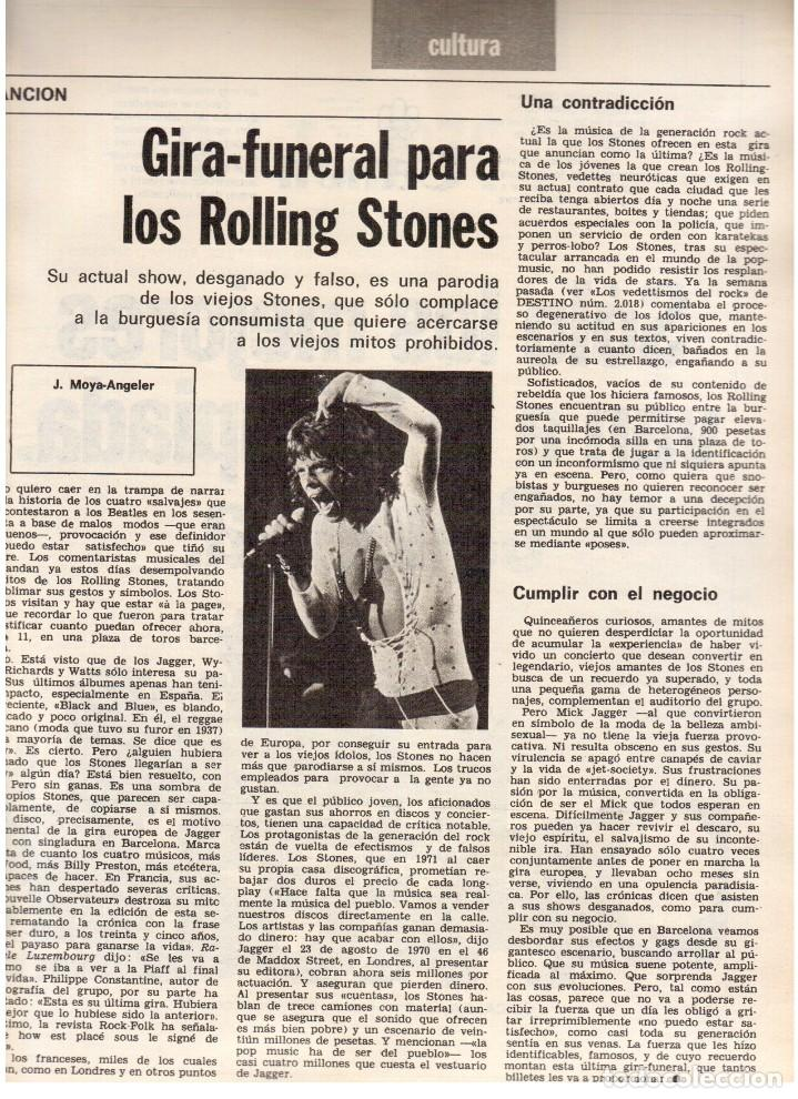 Coleccionismo de Revista Destino: 1976.FEMINISMO EN CATALUÑA.ROLLING STONES.TERENCE MOIX.JORDI PUJOL.TRUFFAUT.HEIDEGGER. (VER SUMARIO) - Foto 5 - 114619663