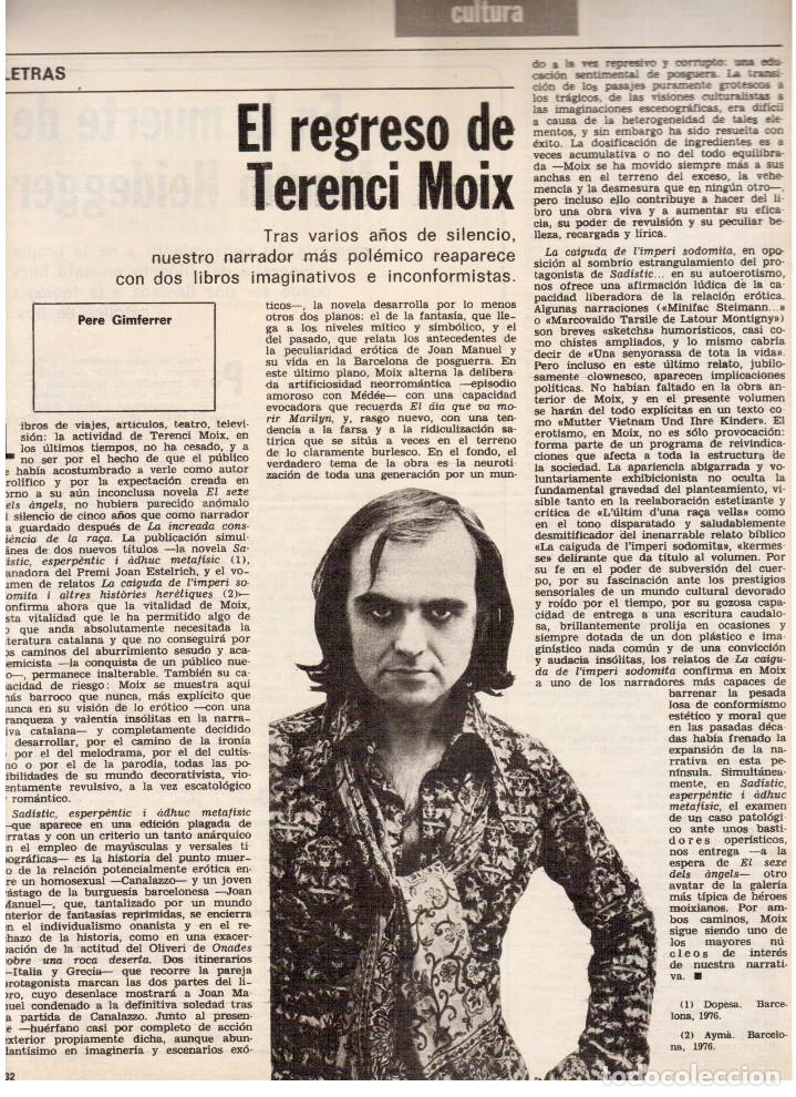 Coleccionismo de Revista Destino: 1976.FEMINISMO EN CATALUÑA.ROLLING STONES.TERENCE MOIX.JORDI PUJOL.TRUFFAUT.HEIDEGGER. (VER SUMARIO) - Foto 6 - 114619663