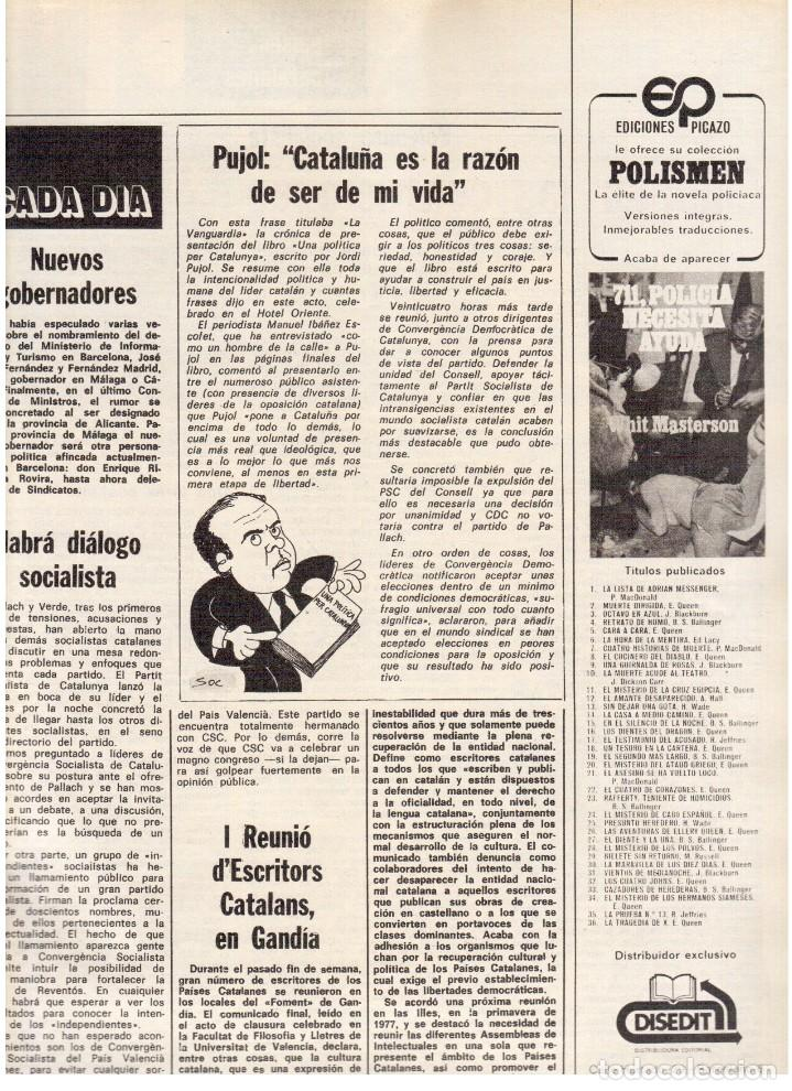 Coleccionismo de Revista Destino: 1976.FEMINISMO EN CATALUÑA.ROLLING STONES.TERENCE MOIX.JORDI PUJOL.TRUFFAUT.HEIDEGGER. (VER SUMARIO) - Foto 7 - 114619663