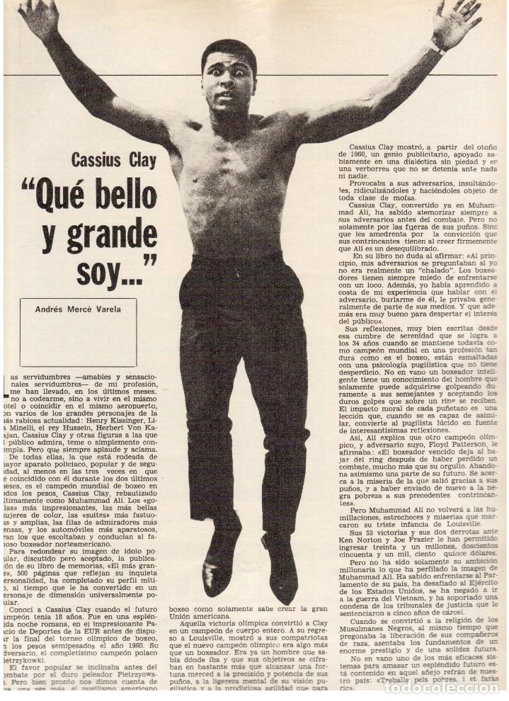 Coleccionismo de Revista Destino: 1976. MONTAL.CASSIUS CLAY.NOAM CHOMSKY.GARCÍA LORCA.JOAN MIRÓ.GAUDÍ. (VER SUMARIO) - Foto 3 - 114648431