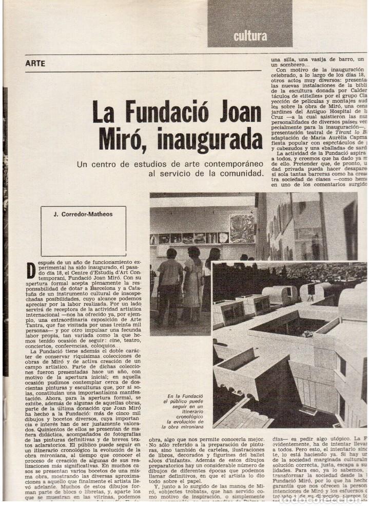Coleccionismo de Revista Destino: 1976. MONTAL.CASSIUS CLAY.NOAM CHOMSKY.GARCÍA LORCA.JOAN MIRÓ.GAUDÍ. (VER SUMARIO) - Foto 4 - 114648431