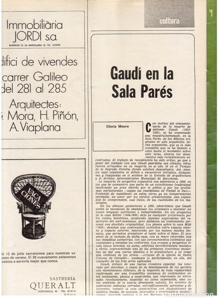 Coleccionismo de Revista Destino: 1976. MONTAL.CASSIUS CLAY.NOAM CHOMSKY.GARCÍA LORCA.JOAN MIRÓ.GAUDÍ. (VER SUMARIO) - Foto 7 - 114648431