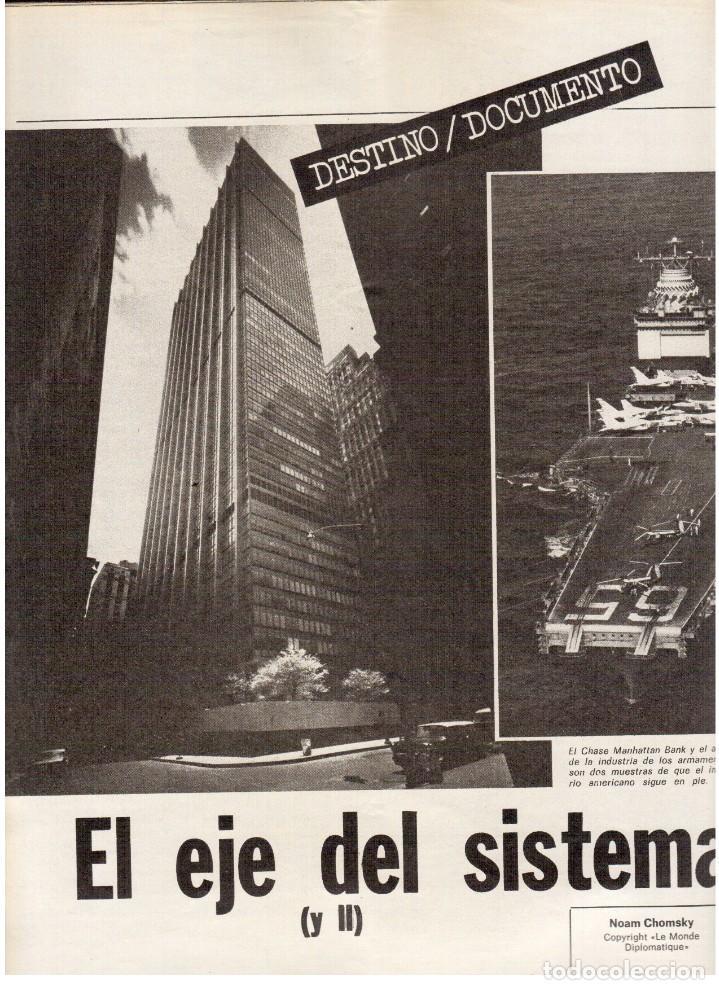Coleccionismo de Revista Destino: 1976. MONTAL.CASSIUS CLAY.NOAM CHOMSKY.GARCÍA LORCA.JOAN MIRÓ.GAUDÍ. (VER SUMARIO) - Foto 8 - 114648431