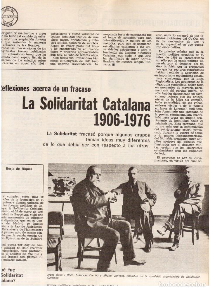 Coleccionismo de Revista Destino: 1976. HERIBERT BARRERA (ERC).GIRONA.JORDI PUJOL.JEAN GENET.SEBASTIÁ GASCH. (VER SUMARIO) - Foto 4 - 114675907