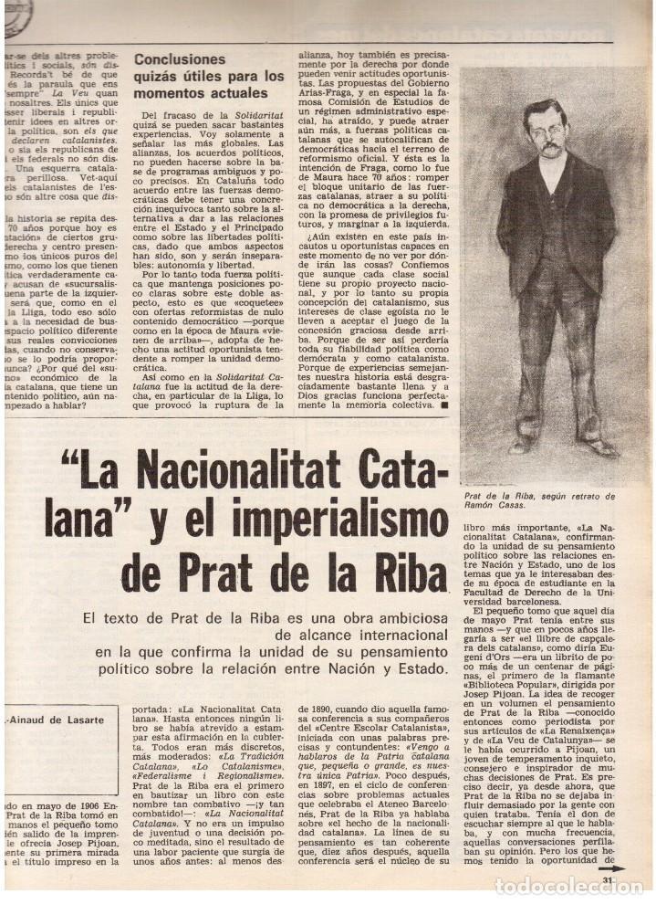 Coleccionismo de Revista Destino: 1976. HERIBERT BARRERA (ERC).GIRONA.JORDI PUJOL.JEAN GENET.SEBASTIÁ GASCH. (VER SUMARIO) - Foto 5 - 114675907
