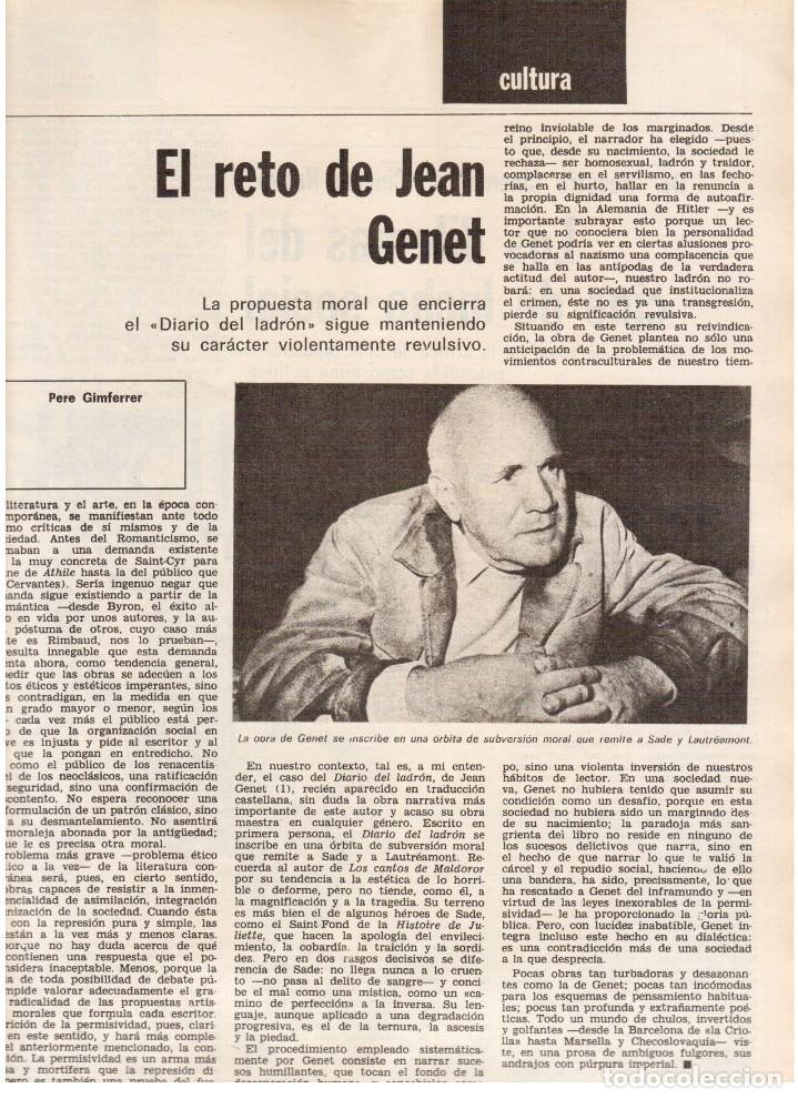 Coleccionismo de Revista Destino: 1976. HERIBERT BARRERA (ERC).GIRONA.JORDI PUJOL.JEAN GENET.SEBASTIÁ GASCH. (VER SUMARIO) - Foto 6 - 114675907