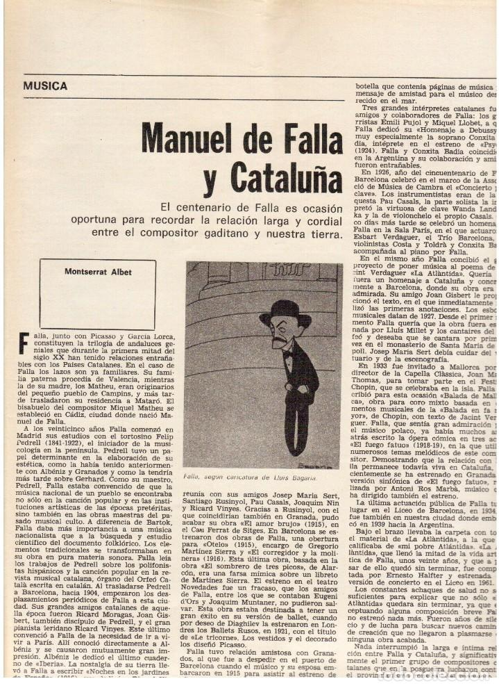 Coleccionismo de Revista Destino: 1976. HERIBERT BARRERA (ERC).GIRONA.JORDI PUJOL.JEAN GENET.SEBASTIÁ GASCH. (VER SUMARIO) - Foto 8 - 114675907