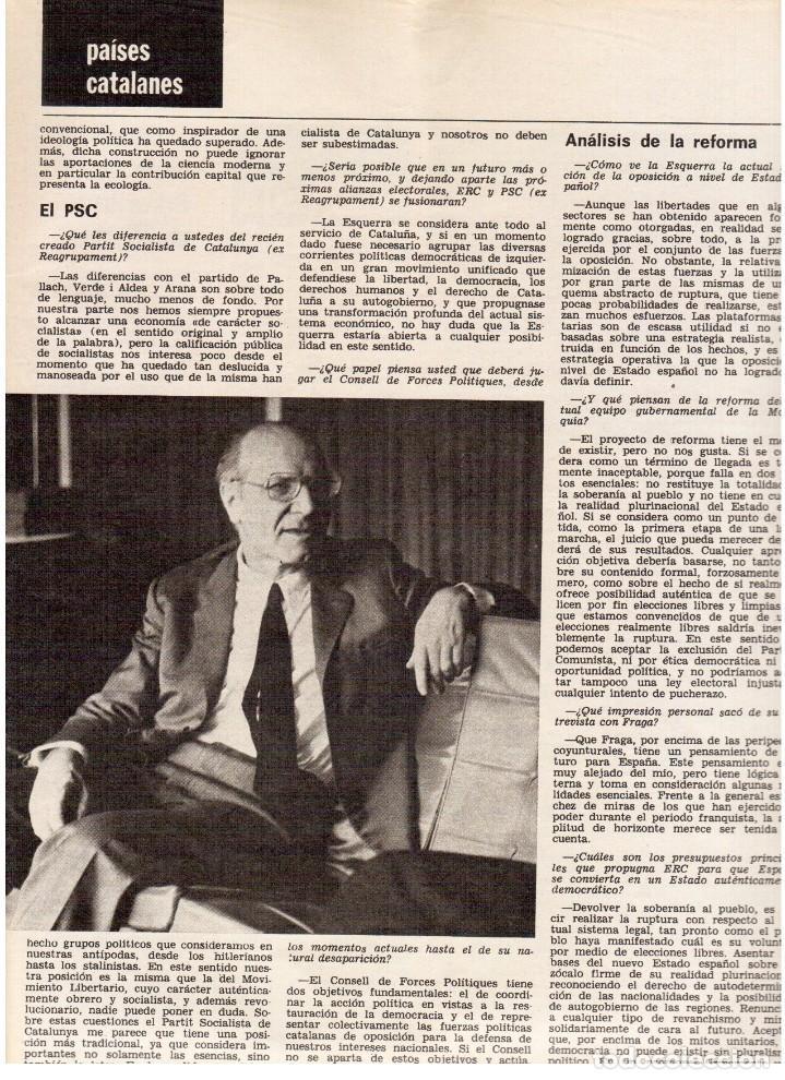 Coleccionismo de Revista Destino: 1976. HERIBERT BARRERA (ERC).GIRONA.JORDI PUJOL.JEAN GENET.SEBASTIÁ GASCH. (VER SUMARIO) - Foto 10 - 114675907
