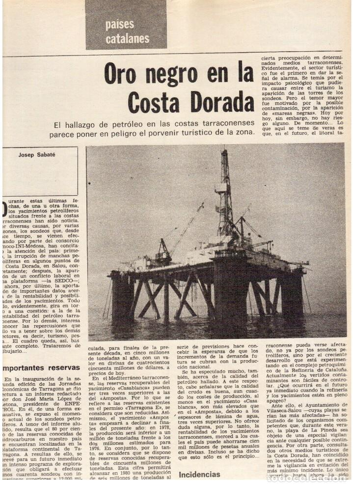 Coleccionismo de Revista Destino: 1976. HERIBERT BARRERA (ERC).GIRONA.JORDI PUJOL.JEAN GENET.SEBASTIÁ GASCH. (VER SUMARIO) - Foto 11 - 114675907